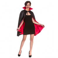 Halloween Cape - Black with Red Lining(HC9408)